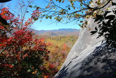 Rock Climbing Photo: Fall Colors East side of Sun-Wall looking West tow...