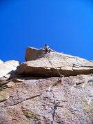 Rock Climbing Photo: Derek, finishing the last crux.