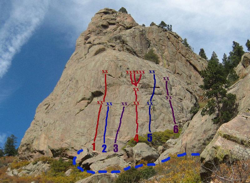 Rock Climbing Photo: Landscape Architect is route #2.