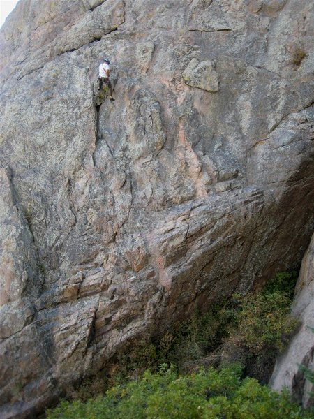 Rock Climbing Photo: Rich rappels Tanner Classic.