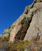 Rock Climbing Photo: Midlife Crisis bolts.