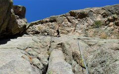 Rock Climbing Photo: Brenda descends Two Fine People. Here you can see ...