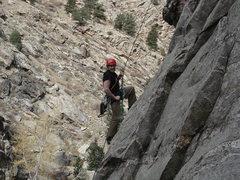 Rock Climbing Photo: Luke bolting the Wild Bore!!