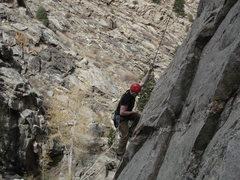 Rock Climbing Photo: Adding the final touches to the Wild Bore.