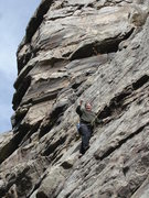 "Rock Climbing Photo: Mark Childers a.k.a. ""The Wild Bore"" FA'..."