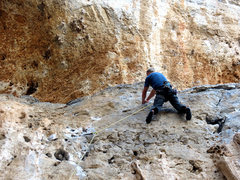 Rock Climbing Photo: Matt onsighting the crux rail on phantom feet near...