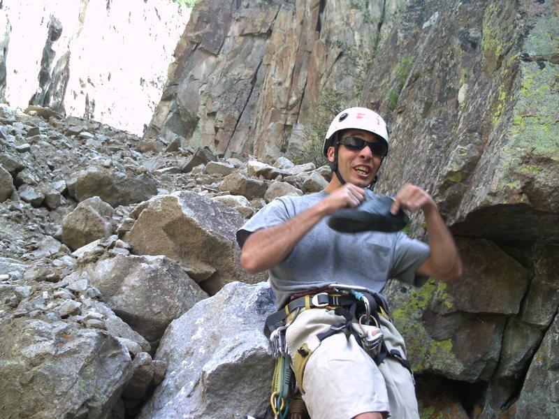 Rock Climbing Photo: Wishing for a breeze in the C.C.!