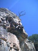 Rock Climbing Photo: John clearing the crux.