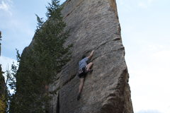 "The Edge of Time, The Fin, CO, USA. Lisa ""the wombat"" G. and Jeremy Jones. Great Climb!"