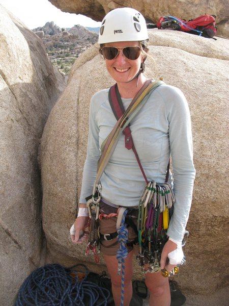 Rock Climbing Photo: 1st lead in joshua tree