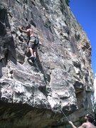 Rock Climbing Photo: John on Innocent Bystander.