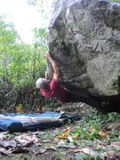 Rock Climbing Photo: Hitting the sloping lip.