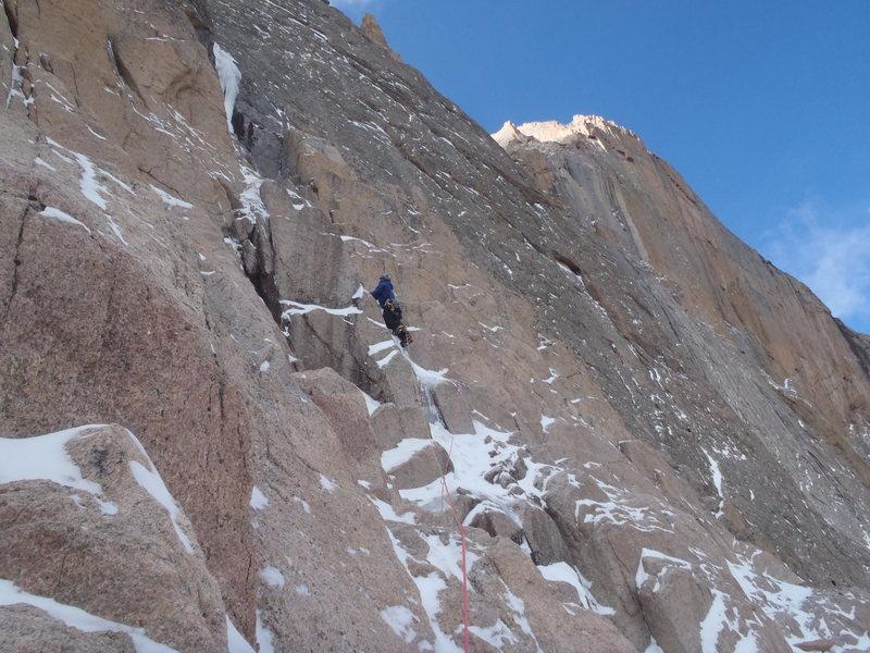 Rock Climbing Photo: Pitch one.