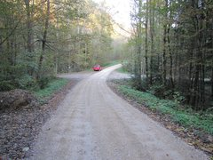 Rock Climbing Photo: The forest road crossing that's mentioned in the G...