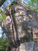 Rock Climbing Photo: Waldkopf. There is one more traversing route on he...