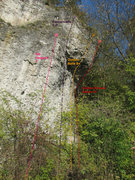 Rock Climbing Photo: Freudenhaus right. There is one more route around ...