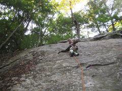 Rock Climbing Photo: Jim being  brave/crazy/bored