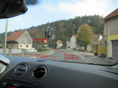 Rock Climbing Photo: The deciding turn. Left to Aalkorb and the 2 car p...