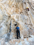 Rock Climbing Photo: Mr. Nance, checkin' out that wicked boulder-y star...
