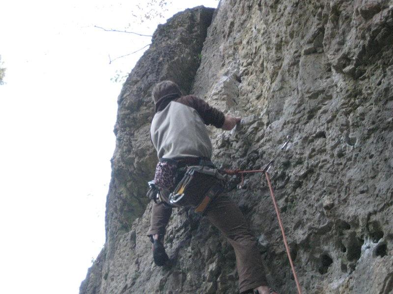 Climbing Von Feinsten at Schlaraffenland.