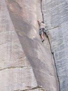 Rock Climbing Photo: Big Jon gettin' after it on Finlay Crack.