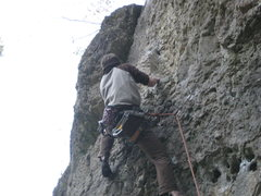 Rock Climbing Photo: Climbing von feinsten, my first 8- in Frankenjura.