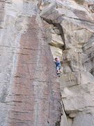 Rock Climbing Photo: Up on the arete of Schwing Time