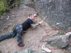Rock Climbing Photo: First clip is a little runout...