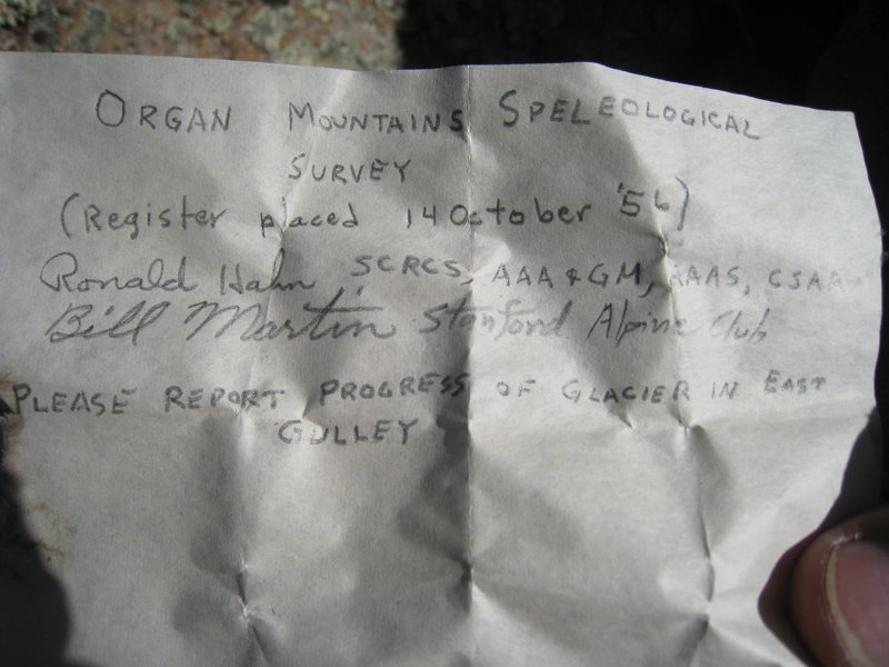 Old summit register (see comment)