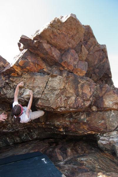 Bouldering near Great Head, Acadia