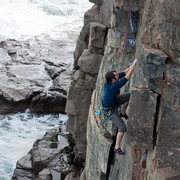 Rock Climbing Photo: A Dare By The Sea, Otter Cliffs