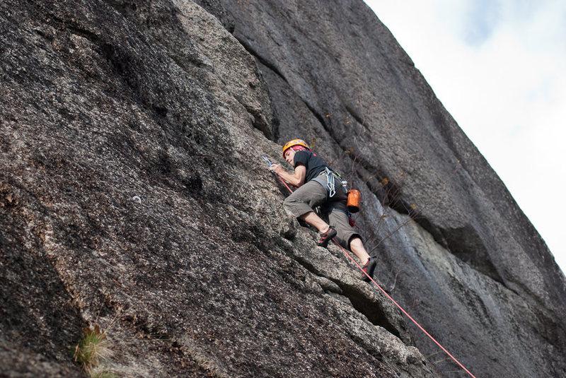 Rock Climbing Photo: Highlander, Eagle Bluff