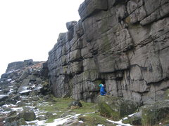 Rock Climbing Photo: Higgar Tor in less than ideal conditions