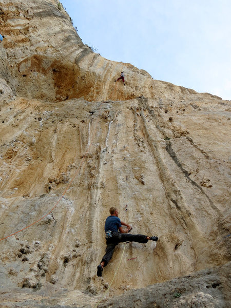 Rock Climbing Photo: Milk that cling. Then send for glory, young leader...