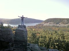 Rock Climbing Photo: I love the lake this much!