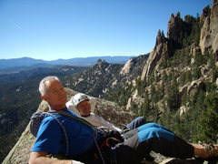 Rock Climbing Photo: Doug and Bill giving Mike a hard time. Cynical P. ...