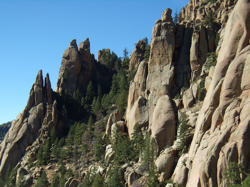 Climbers on Mississippi Half-Step.  South Platte CO. October 23rd 2011.
