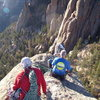 Summit shot. Doug Donato Bill Duncan, Mike Colacino. Cynical P. South Platte CO. October 23rd 2011.