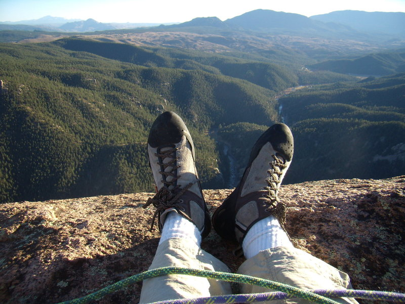 Rock Climbing Photo: Summit. Cynical P. South Platte CO. October 23rd 2...