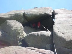 Rock Climbing Photo: Nearly there - but the leader had to reverse ferre...