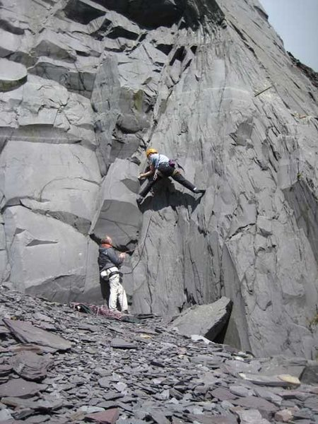 Rock Climbing Photo: Starting a bolted route in Australia (photo by Phi...