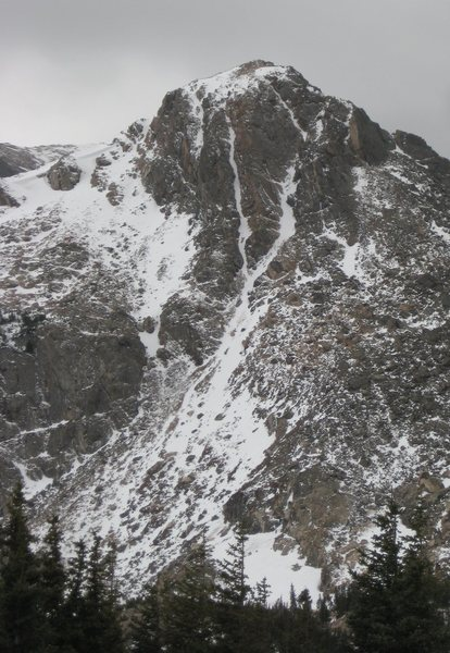 Rock Climbing Photo: Turf War is the right hand snow line in this photo...