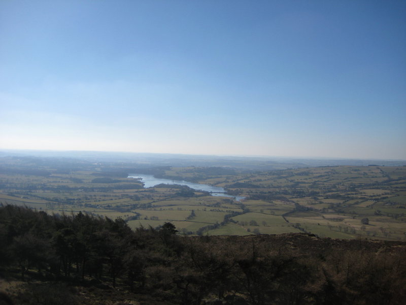 Rock Climbing Photo: The view towards Rudyard reservoir from the Skylin...