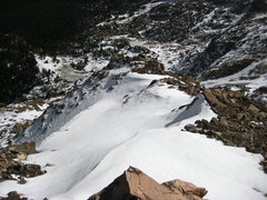 Rock Climbing Photo: Looking south down the descent.  There are several...