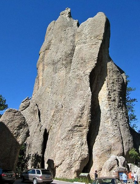 Rock Climbing Photo: The Bell Tower and the Needle's Eye from the tunne...