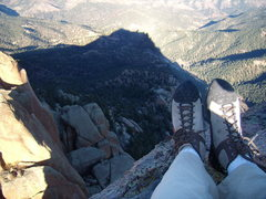 Rock Climbing Photo: Long Fall Shadows. Cynical P. South Platte CO. Oct...