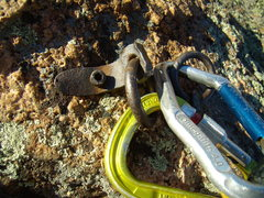 Rock Climbing Photo: Bomber Anchor. Cynical P. South Platte CO. October...