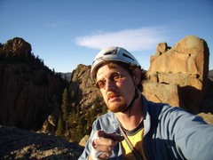 Rock Climbing Photo: Self Portrait. Cynical P. South Platte CO. October...