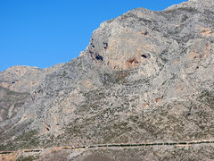 """Rock Climbing Photo: The """"red eye"""" Galatiani salute from THIS..."""