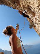 Rock Climbing Photo: Still clipping for glory despite a sudden and viol...